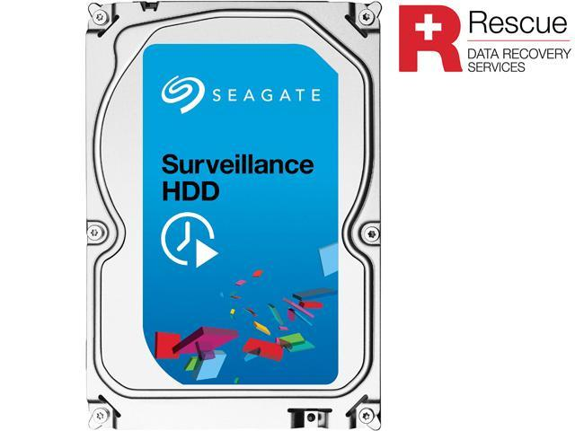 Seagate Surveillance HDD ST5000VX0011 5TB 128MB Cache SATA 6.0Gb/s Internal Hard Drive + Rescue Data Recovery Services