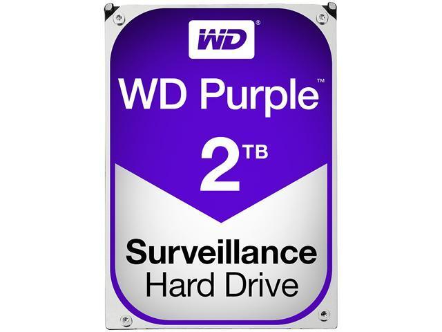 WD Purple 2TB Surveillance Hard Disk Drive - 5400 RPM Class SATA 6Gb/s 64MB Cache 3.5 Inch - WD20PURX