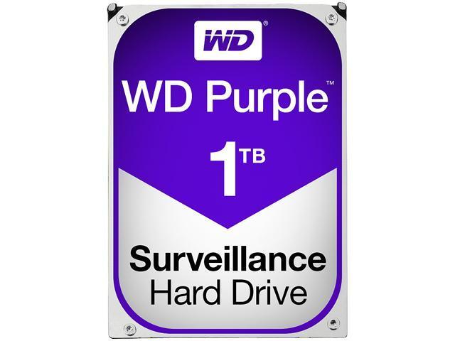 WD Purple 1TB Surveillance Hard Disk Drive - Intellipower SATA 6 Gb/s 64MB Cache 3.5 Inch - WD10PURX