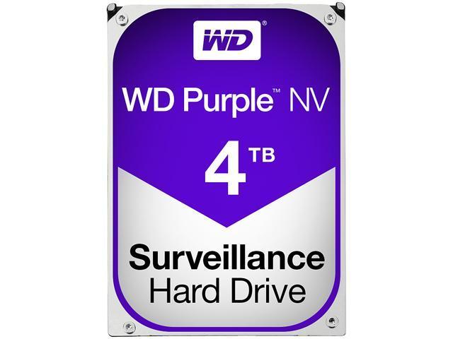 WD Purple NV 4TB Surveillance Hard Disk Drive - 5400 RPM Class SATA 6Gb/s 64MB Cache 3.5 Inch - WD4NPURX