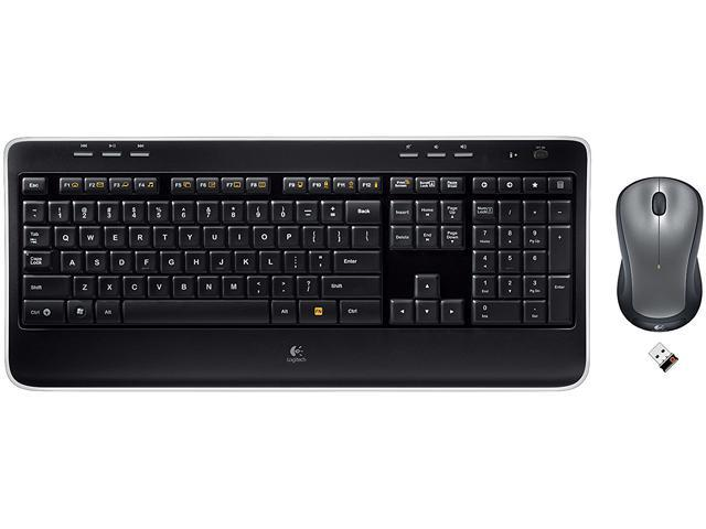logitech mk520 2 4 ghz wireless keyboard and mouse combo black. Black Bedroom Furniture Sets. Home Design Ideas