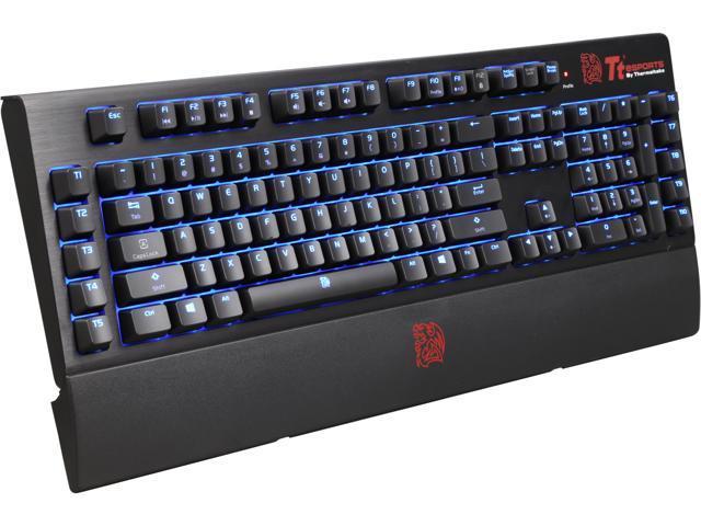 Tt eSPORTS Poseidon Z Forged KB-BAZ-KLBLUS-01 Black USB Wired Aluminum Gaming Mechanical Keyboard