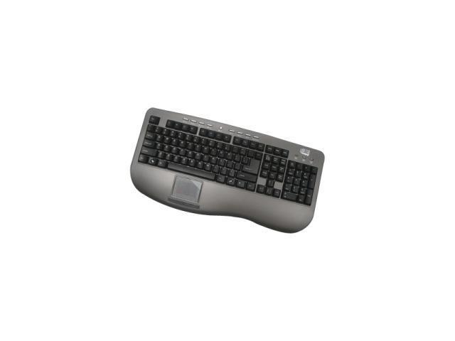ADESSO AKB-430UG Dark Gray/Black USB Standard Win Touch Pro Desktop Multimedia Touchpad keyboard