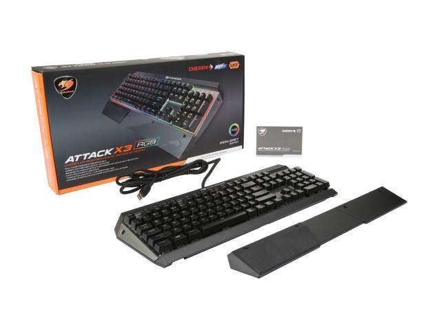 9f9ea081842 COUGAR ATTACK X3 RGB Cherry MX Red Switch Gaming Keyboard - Attackx3-RGB-1IG