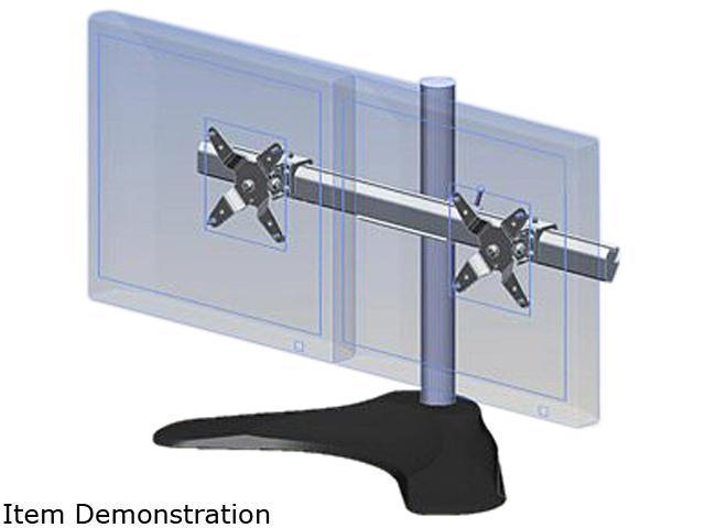 Ergotech 100-D16-B02 Dual Horizontal LCD Monitor Arm Desk Stand