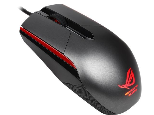 ASUS ROG Sica 90MP00B1-B0UA00 Steel Grey 1 x Wheel USB Wired Optical 5000 dpi Gaming Mouse