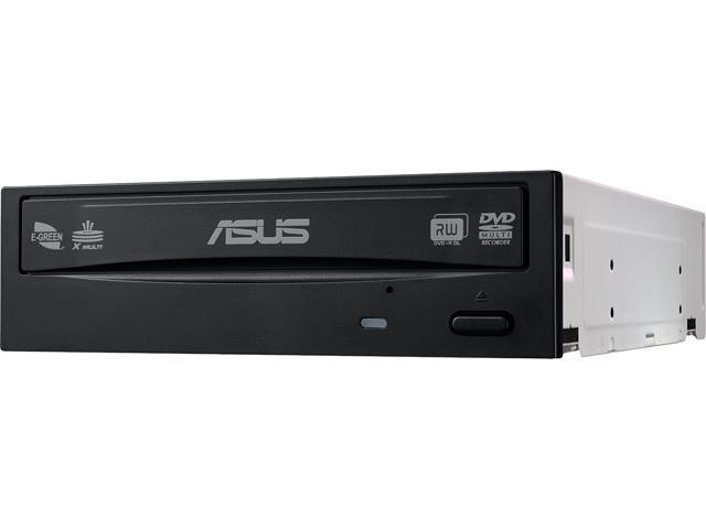 ASUS 24X DVD Burner - Bulk 24X DVD+R 8X DVD+RW 8X DVD+R DL 24X DVD-R 6X DVD-RW 16X DVD-ROM 48X CD-R 24X CD-RW 48X CD-ROM Black SATA Model DRW-24B1ST/BLK/B/AS