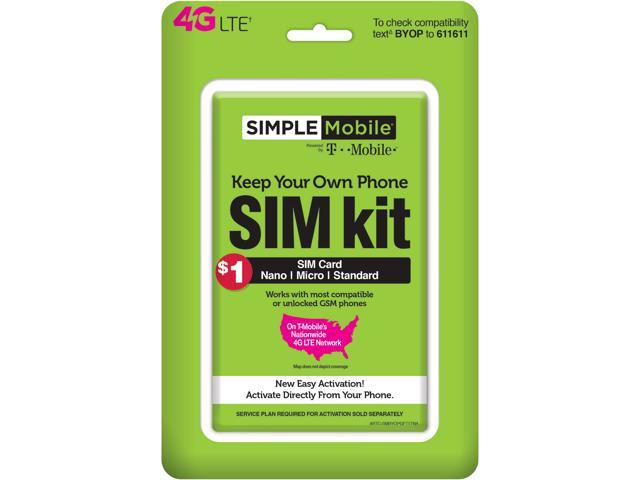 NeweggBusiness - Simple Mobile Sim Activation Kit Prepaid