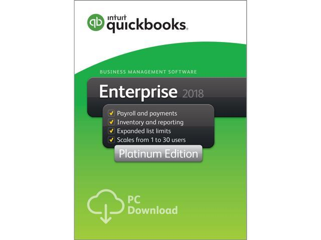 NeweggBusiness - Intuit QuickBooks Desktop Enterprise Platinum 2018