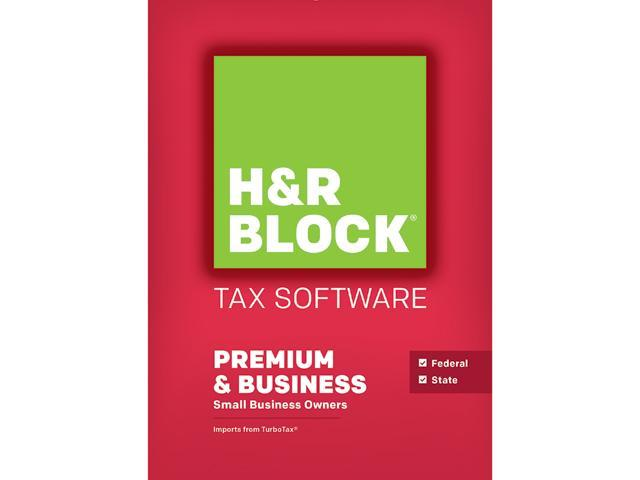 H&R BLOCK Tax Software Premium & Business 2015