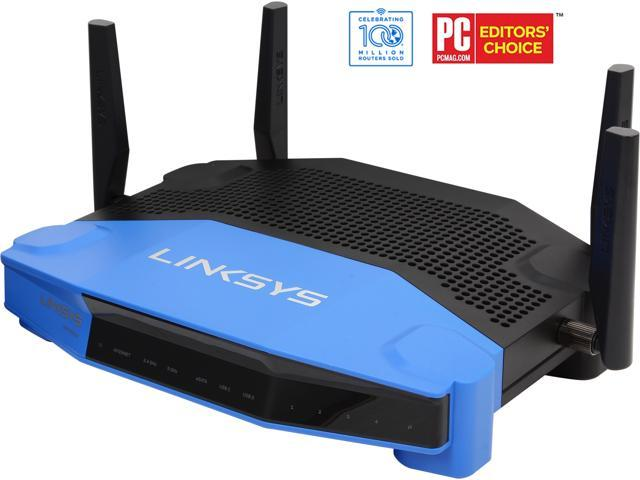 Linksys WRT1900AC Wireless AC Dual Band Router AC1900___ Open Source ready___ eSATA/ USB 3.0 Ports