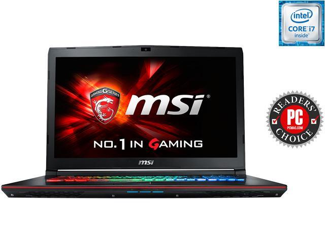 MSI GE Series GE72 Apache Pro-003 Gaming Laptop 6th Generation Intel Core i7 6700HQ (2.60 GHz) 16 GB Memory 1 TB HDD NVIDIA GeForce GTX 960M 2 GB GDDR5 17.3