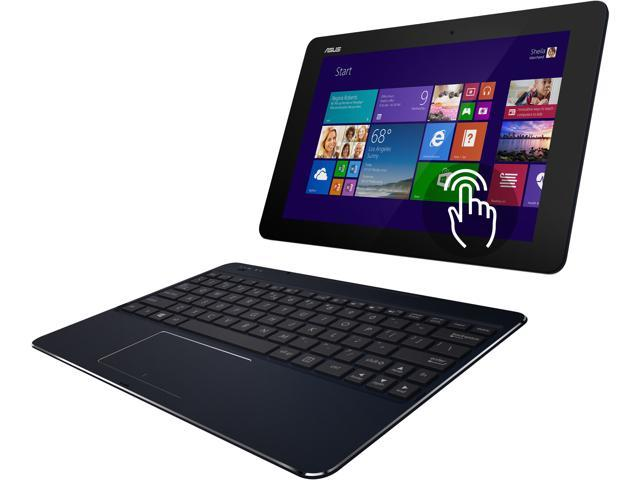 ASUS Transformer Book T100CHI-C1-BK 2-in-1 Ultrabook Intel Atom Z3775 (1.46GHz) 2GB Memory 64GB eMMC 10.1