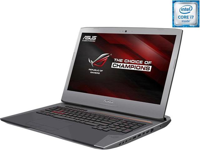 ASUS ROG G752VT-DH72 G-Sync Gaming Laptop 6th Generation Intel Core i7 6700HQ (2.60 GHz) 16 GB Memory 1 TB HDD 128 GB SSD NVIDIA GeForce GTX 970M 3 GB GDDR5 17.3