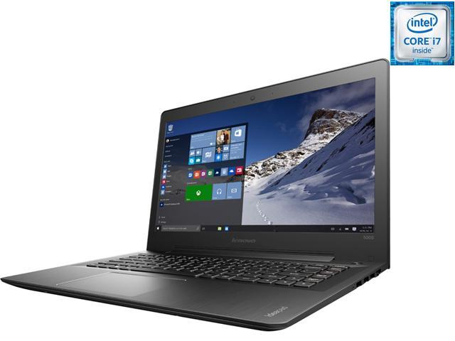 Lenovo Laptop IdeaPad 500S 80Q3002VUS Intel Core i7 6500U (2.50 GHz) 8 GB Memory 1 TB HDD Intel HD Graphics 520 14.0