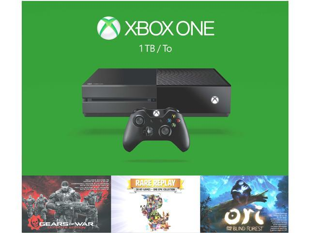 Xbox One 1TB Holiday (Gears of War: Ultimate Edition + Rare Replay + Ori and the Blind Forest) Console Bundle