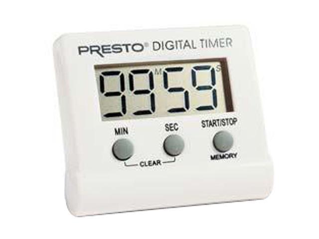 PRESTO 04213 Electronic Digital Timer, White photo