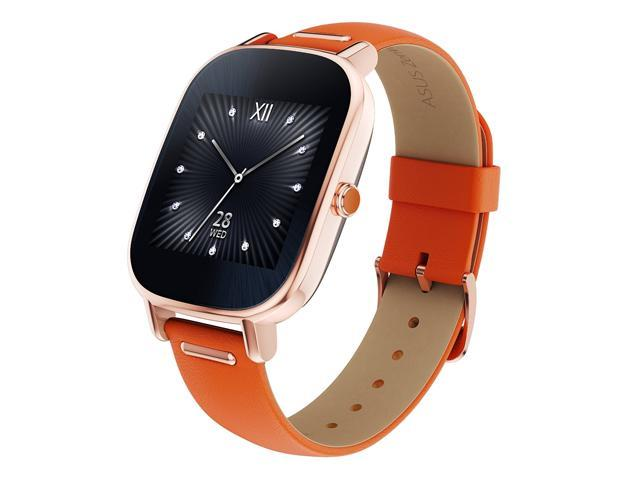 ZenWatch 2 Android Wear Smartwatch (Rose Gold Casing/Orange Leather Band)