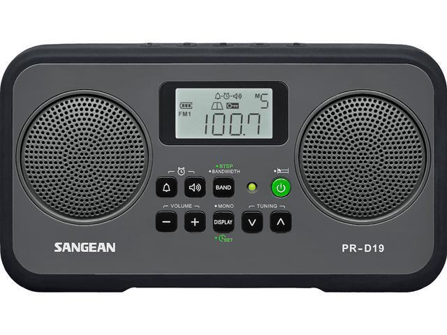 Sangean AM FM Stereo Portable Radio Gray/Black PR-D19BK