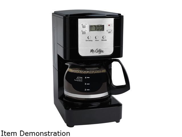 Mr. Coffee JWX3-RB Advanced Brew 5-Cup Programmable Coffee Maker, Black/Chrome photo