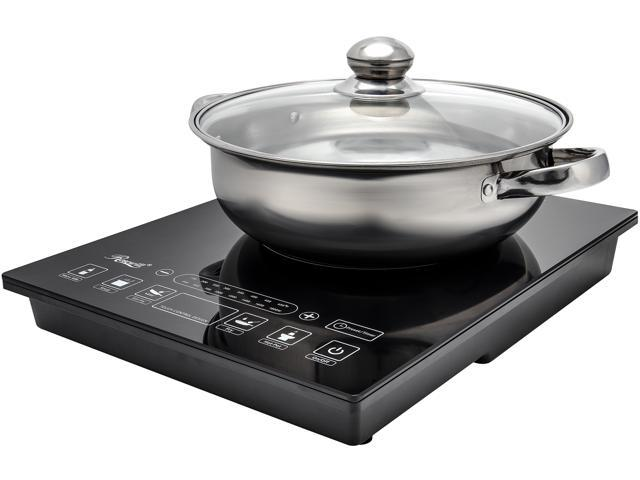 Rosewill Induction Cooker 1800-Watt, 5 Pre-Programmed Induction Cooktop, Electric Burner with Stainless Steel Pot 10' 3.5 QT 18-8, RHAI-15001 photo