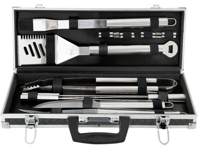 Mr. Bar-B-Q 02068X 18 Piece Tool Set With Aluminum Case