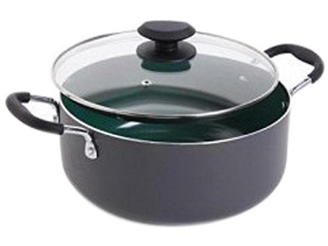 Gibson Home Hummington Eco-Friendly 5-Quart Dutch Oven with Glass Lid, Multi-Size, Green photo