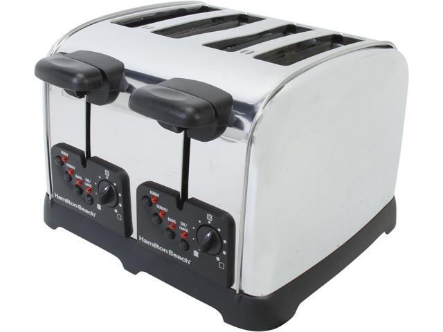 Hamilton Beach 24790 Stainless Steel Classic Chrome 4 Slice Toaster photo