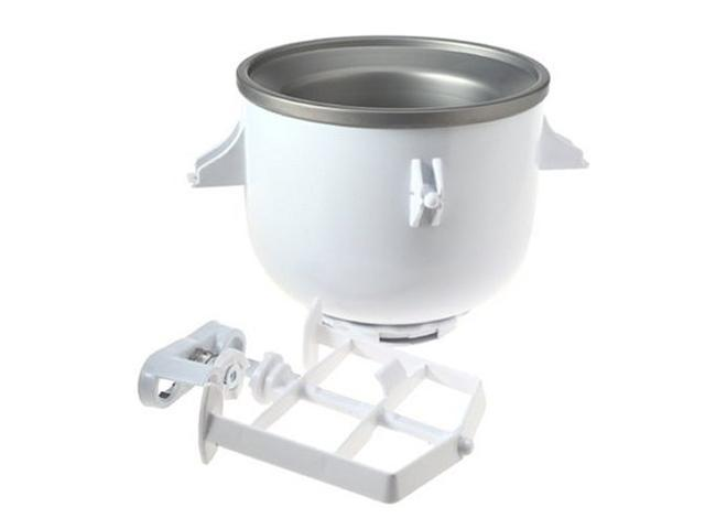 KitchenAid KICA0WH Ice Cream Maker Attachment for Stand Mixer White photo