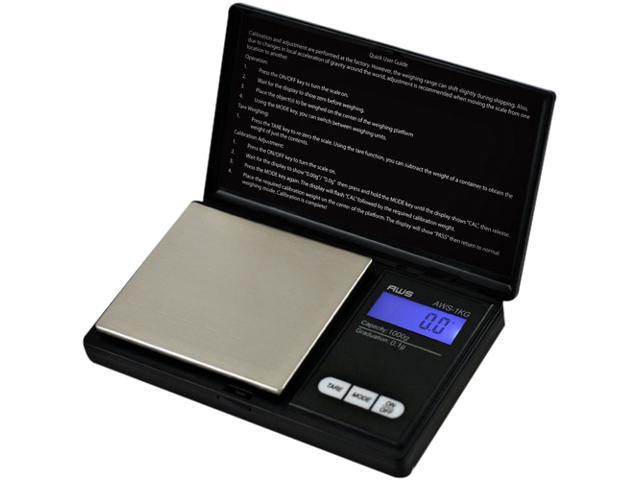 American Weigh Signature Series Black Digital Pocket Scale 1000 by 0.1 G photo