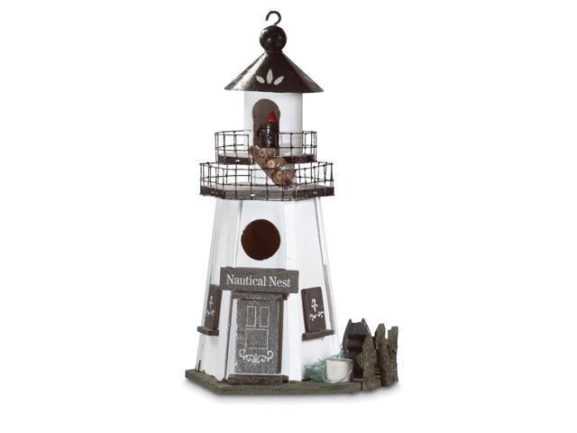 Koehler Home Decorative Lighthouse Bird House - Nautical Nest (849179014629 Home & Garden) photo