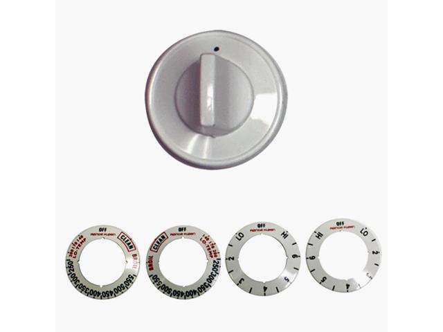Replacement Electric Range And Oven Knob Kit-WHITE ELECTRIC KNOB KIT photo
