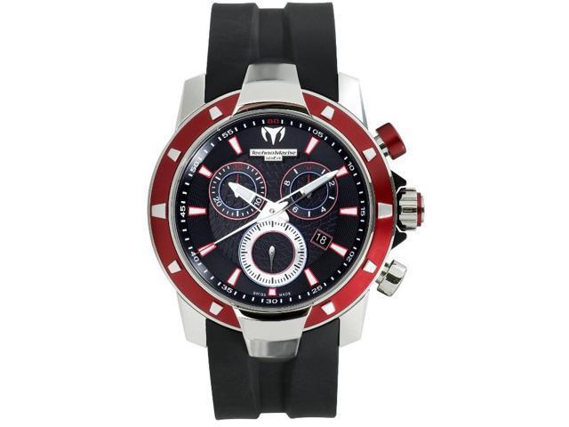TechnoMarine Mens UF6 Magnum Chrono Aluminum Red and Black Watch 609022