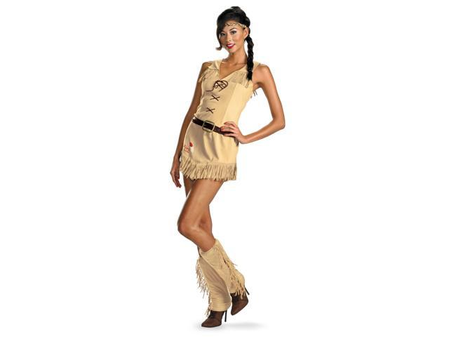 Lone Ranger Sassy Tonto Indian Dress Costume Adult Medium