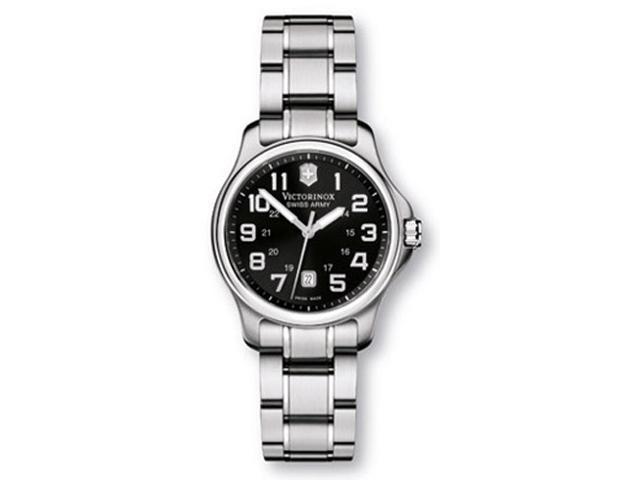 Victorinox Swiss Army Ladies Officers Black Dial Watch 241368