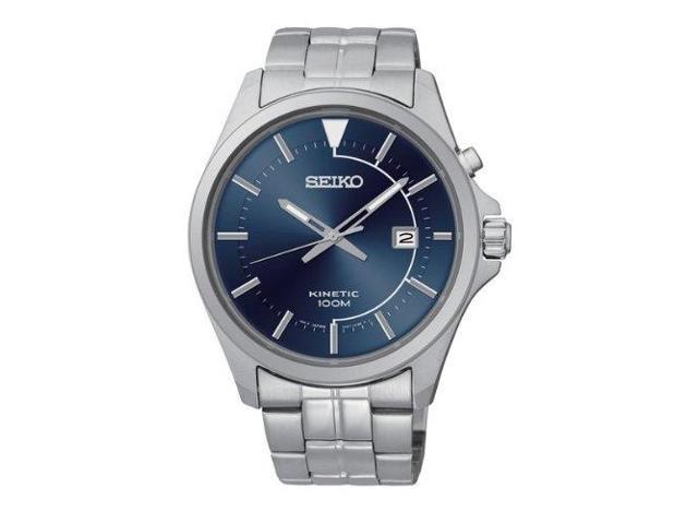 Ashford.com - Seiko Kinetic Blue Dial Stainless Steel Mens Watch - $99.99