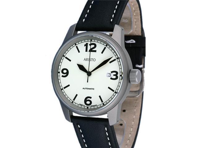 Aristo 5H69TI Titanium Case Automatic Watch with Glow Dial
