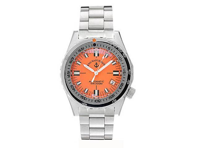Zeno Automatic Orange Army Diver Swiss Made Watch 465N-A5M