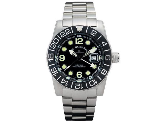Zeno Airplane Swiss Quartz GMT Watch on a Steel Bracelet 6349GMT-Q-A1M