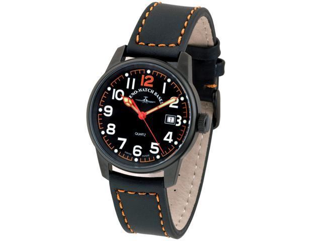 Zeno Classic Black PVD Swiss Quartz Pilot Watch 3315Q-BK-A15
