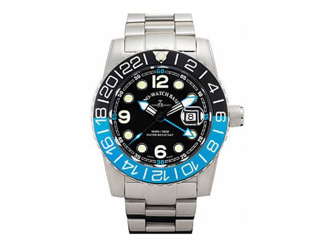 Zeno Airplane Swiss Quartz GMT Watch on a Steel Bracelet 6349GMT-Q-A1-4M