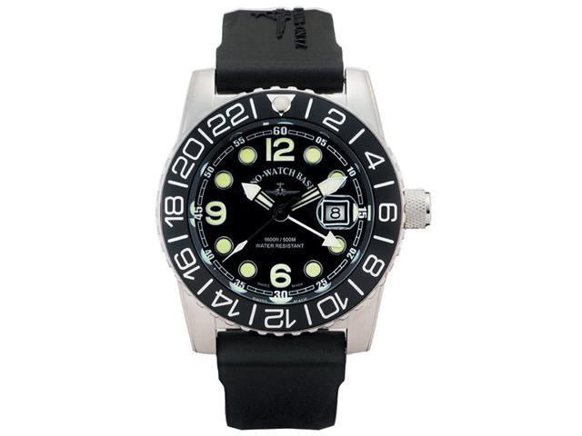 Zeno Airplane Swiss Quartz GMT Watch on a Rubber Strap 6349GMT-Q-A1-1