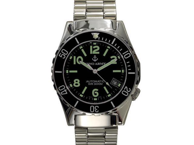 Zeno Automatic Black Army Diver Swiss Made Watch 485N-A1M