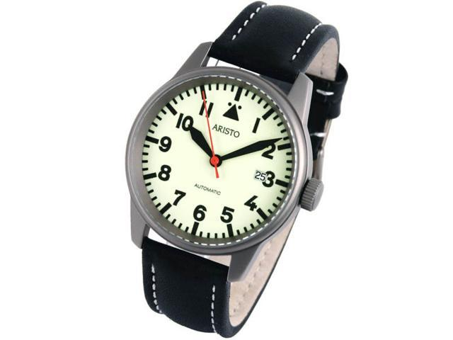 Aristo 5H70TI Titanium Case Automatic Watch with Glow Dial