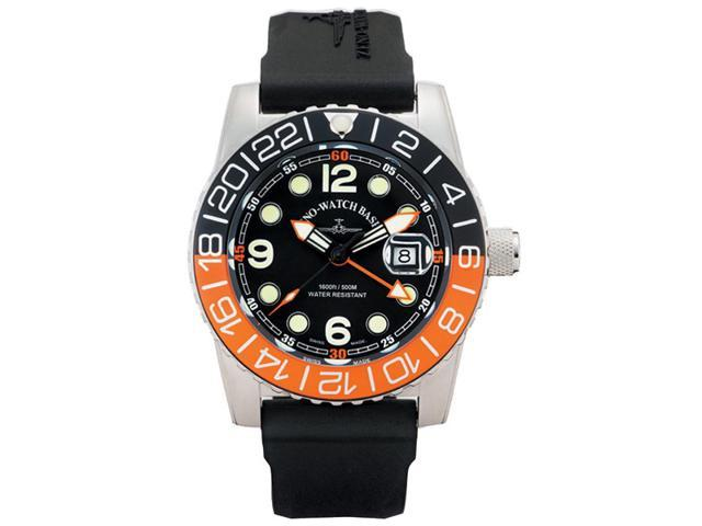 Zeno Airplane Swiss Quartz GMT Watch on a Rubber Strap 6349GMT-Q-A1-5