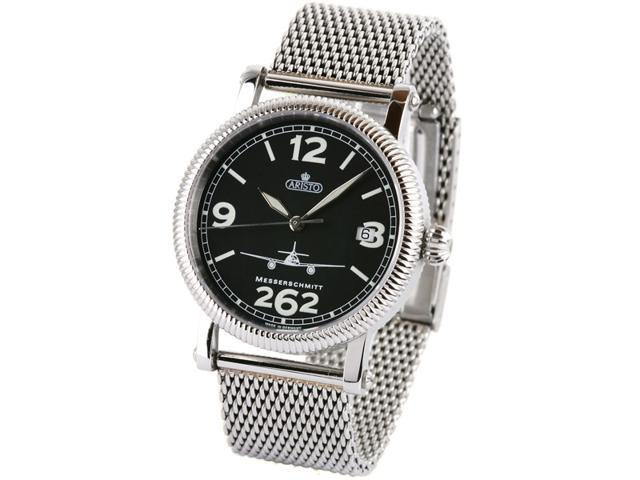 Aristo 4H262-TT Aviator Automatic Watch with Mesh Bracelet and Sapphire Crystal