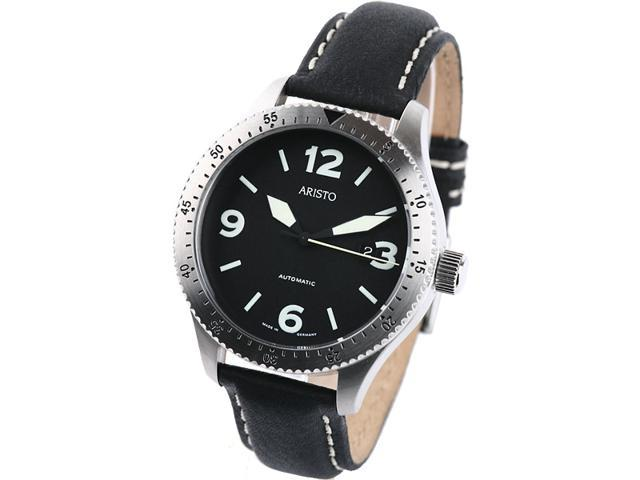 Aristo 7H71 Black Dial Swiss Automatic Aviator Watch