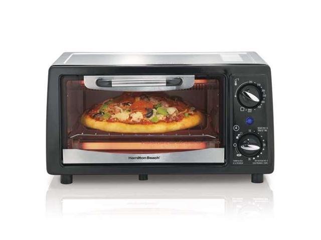 Hamilton Beach 4 Slice Capacity Energy-Saving Toaster Oven, Black photo