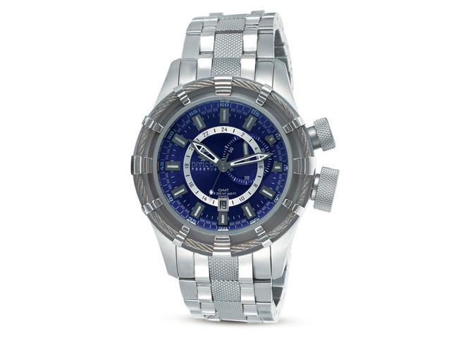 Invicta 7249 Men's Signature Bolt Swiss Blue Dial Stainless Steel Bracelet Watch