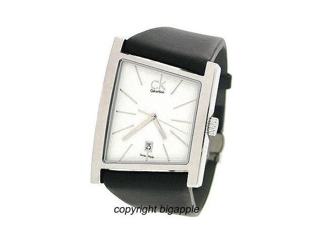 Calvin Klein Swiss Date Leather Band Mens Watch K0Q21120